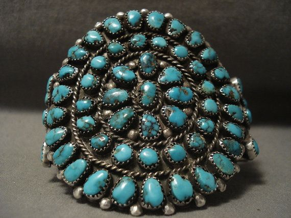 Opulent Vintage Navajo Bisbee Turquoise Silver by NativoArts