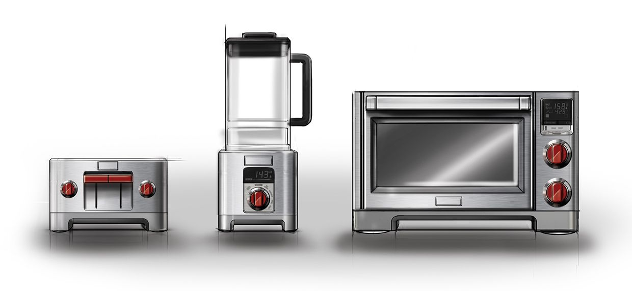 Wolf Gourmet Countertop Appliances On Behance Pd Sketch