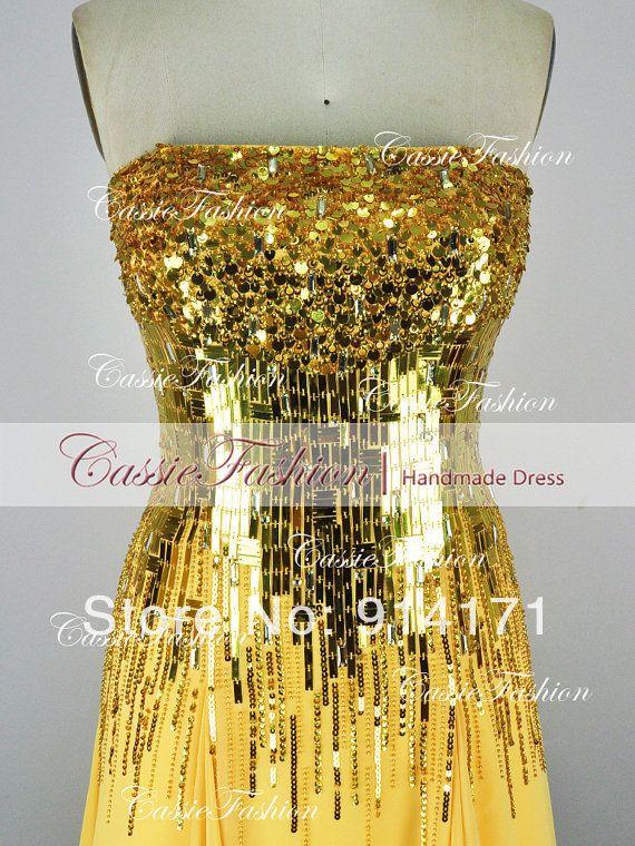 2014 New Arrival Our Real Sample Hot Sale Sheath Diamond Strapless Jewel Chiffon Evening Prom pageant Dresses MC CS153 $160.00