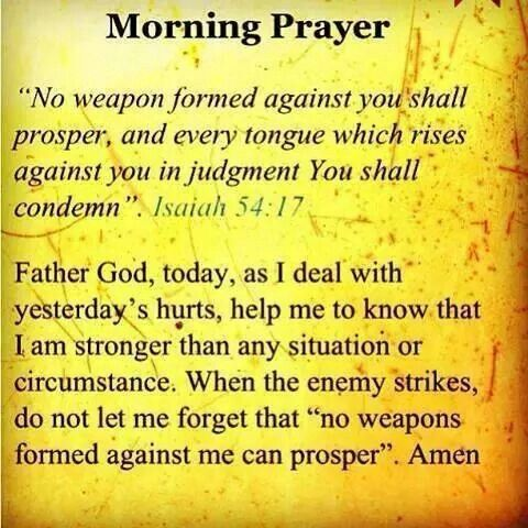 No weapon formed against me shall prosper | Inspirational Quotes ...