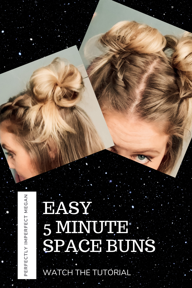 Easy Half Up Space Buns Tutorial Perfectly Imperfect Megan Short Thin Hair Short Hair Tutorial Braided Hairstyles Easy