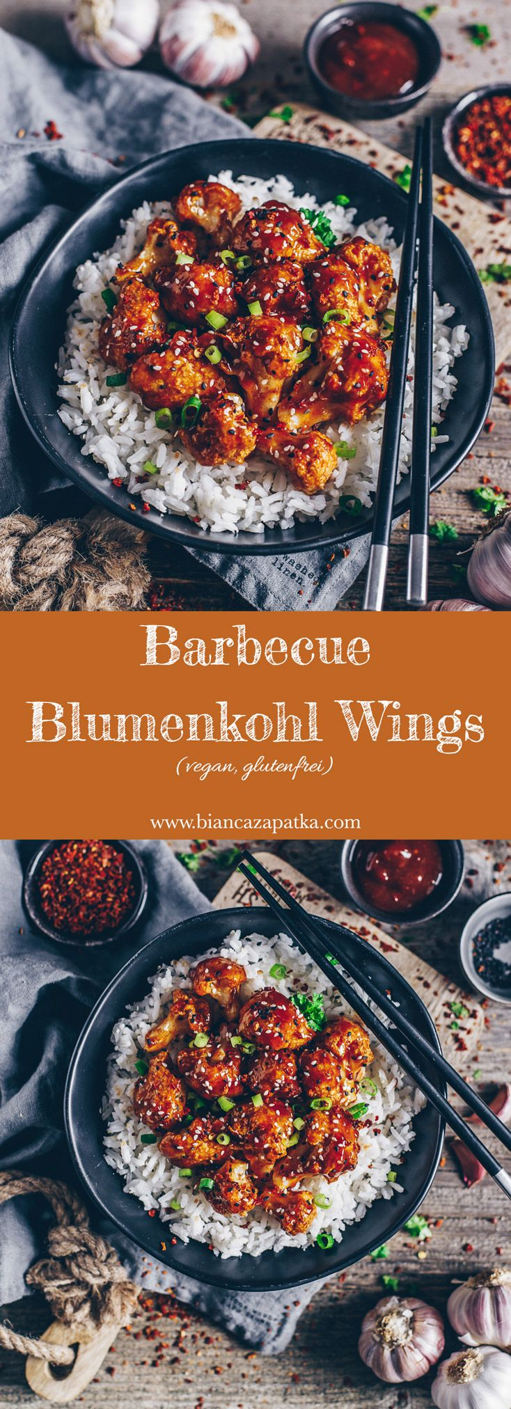 Barbecue Blumenkohl Wings (vegan + glutenfrei) #vegetariandish