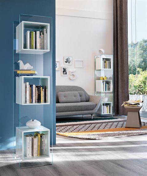 Contemporary shelf / glass / living room MAGIQUE TOTEM by Studio Klass FIAM ITALIA