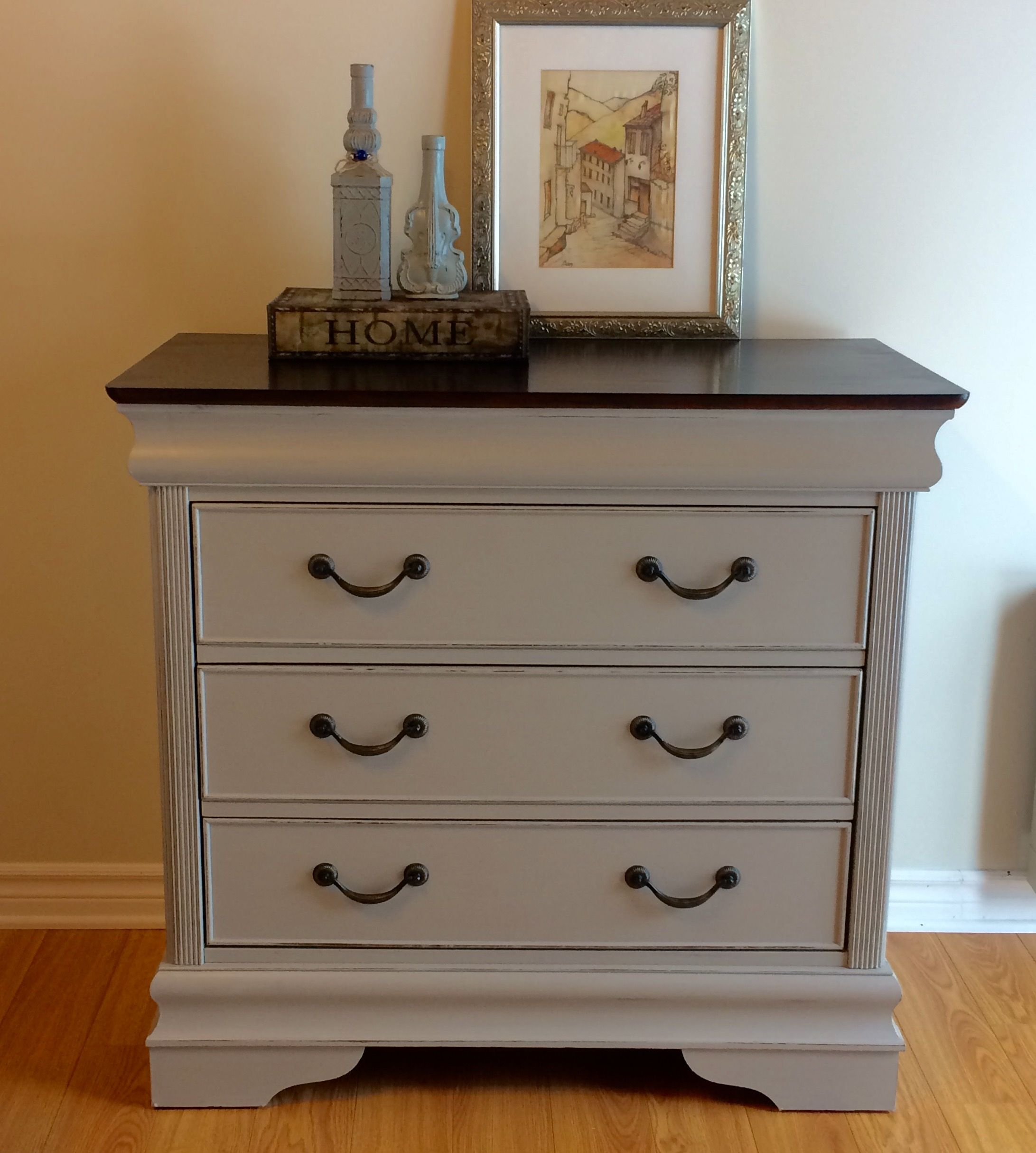 Dove grey chalk painted dresser Projects Pinterest