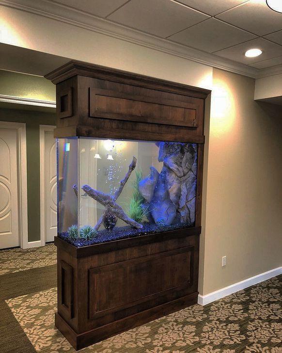 52 modern aquarium partition ideas for living room in 2020