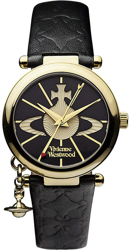 Photo of VIVIENNE WESTWOOD VV006BKGD Orb II gold-plated and leather w…
