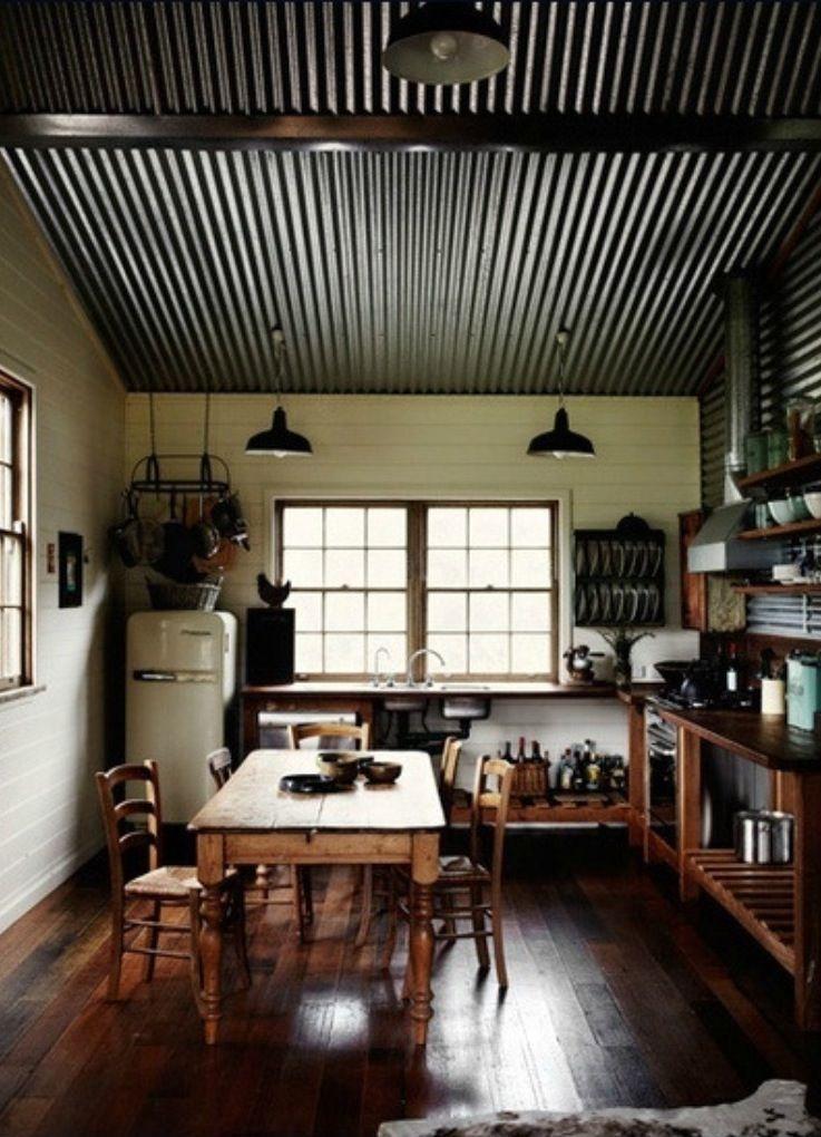 Corrugated metal ceiling basement ideas pinterest