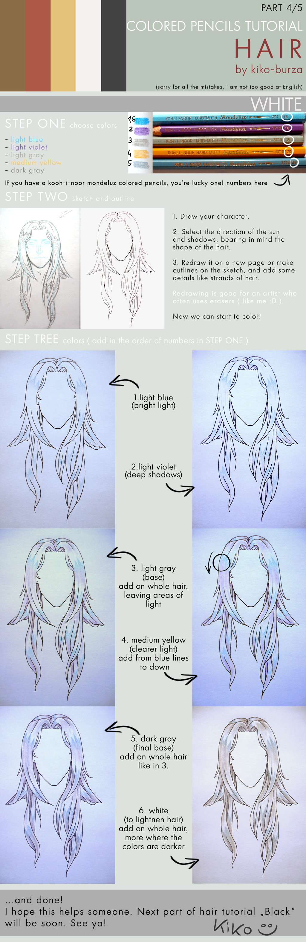 Colored Pencils Tutorial Hair Part 4