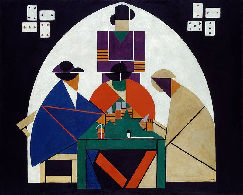 The Card Players, Theo van Doesburg, 1917