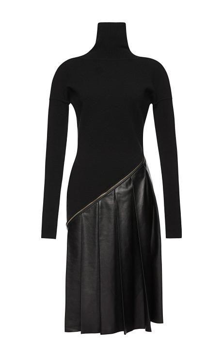 Vionnet Merino Long Sleeve High Neck Dress by Vionnet for Preorder on Moda Operandi