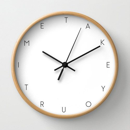 Take Your Time Wall Clock Back To School Clock Motivational Wall Clock With Words Modern Clock Black And White Decoration Office Clock