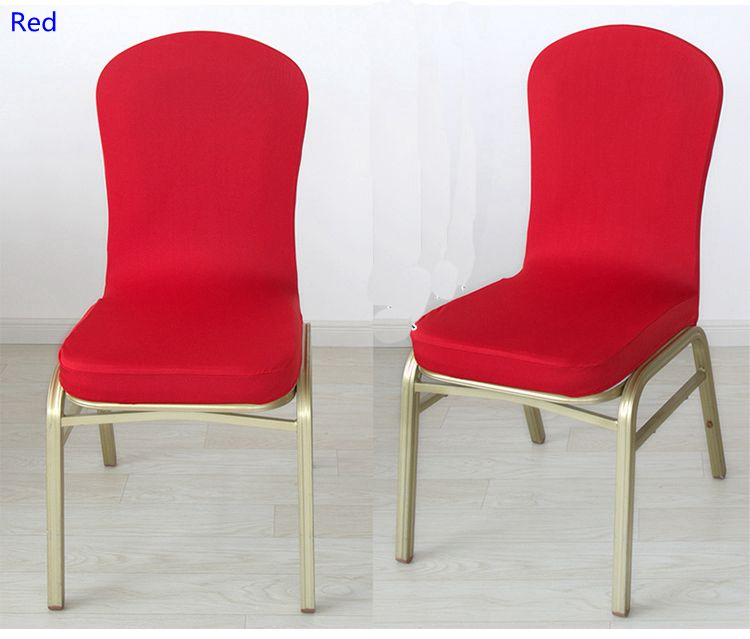 Red Colour Spandex Half Chair Covers For Wedding Chair Decoration Lycra Stretch Party Chair Cover F With Images Chair Covers Party Chair Covers For Sale Cheap Chair Covers