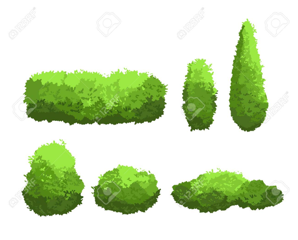 Collection Of Tree And Shrub Silhouettes Vector Free Image By Rawpixel Com Silhouette Vector Shrubs Tree Silhouette