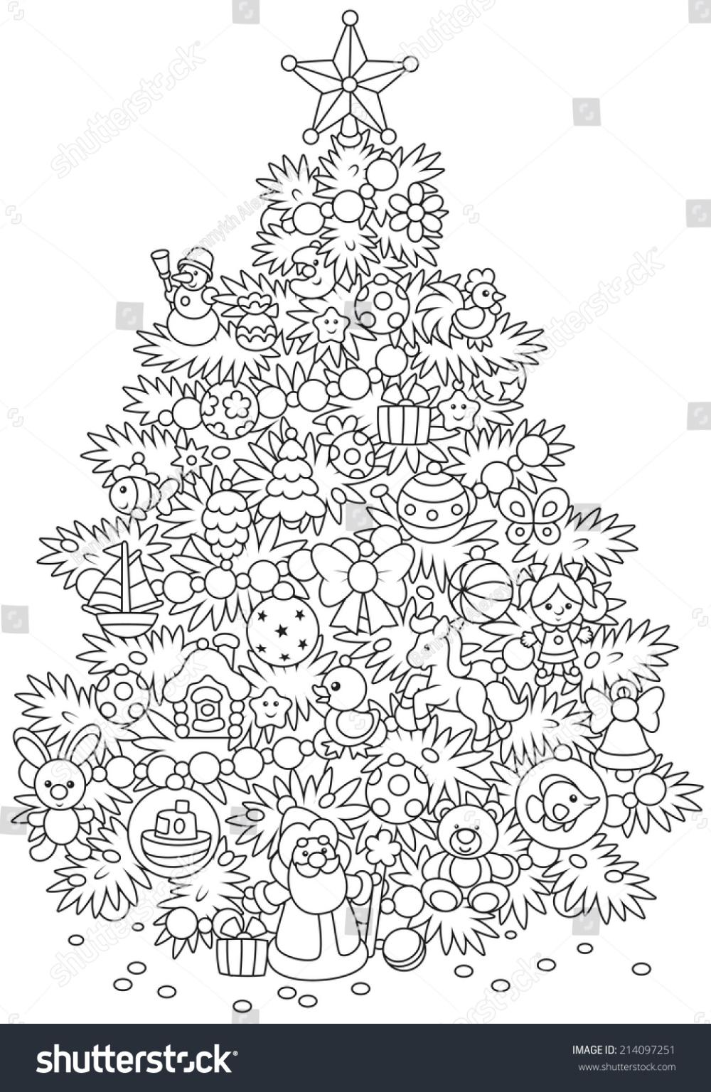 weihnachtsbaum stockvektorgrafik royalty free 214097251