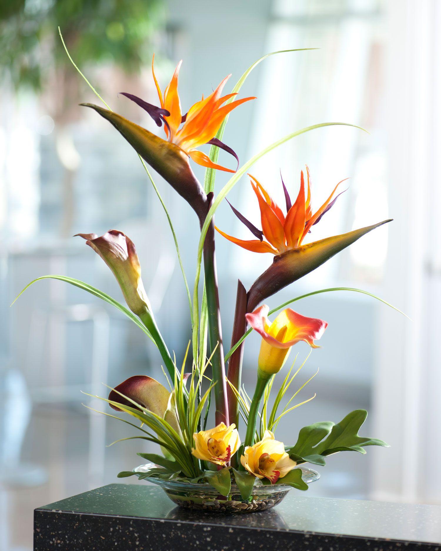 Bird of paradise calla lily artificial flower