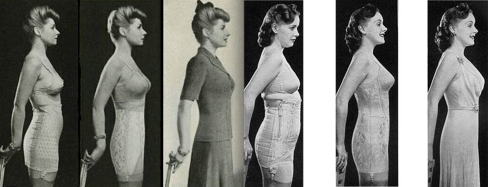1b123c2cd Before And After Corset Photos From The 1940s now called spanx