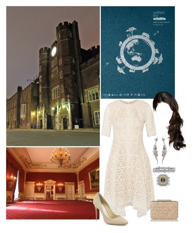 """""""Untitled #1475"""" by duchessq ❤ liked on Polyvore featuring Briefing, Lela Rose, Jimmy Choo, L.K.Bennett, Mark Broumand and Tiffany & Co."""