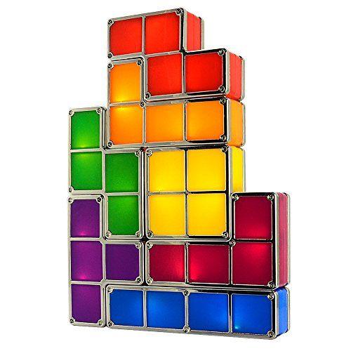 Tetris Desk Lamp, LingsFire Tetris Light DIY Constructibl... https ...
