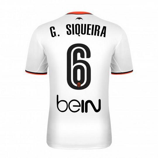Camiseta del Valencia G. SIQUEIRA Primera 2016/2017