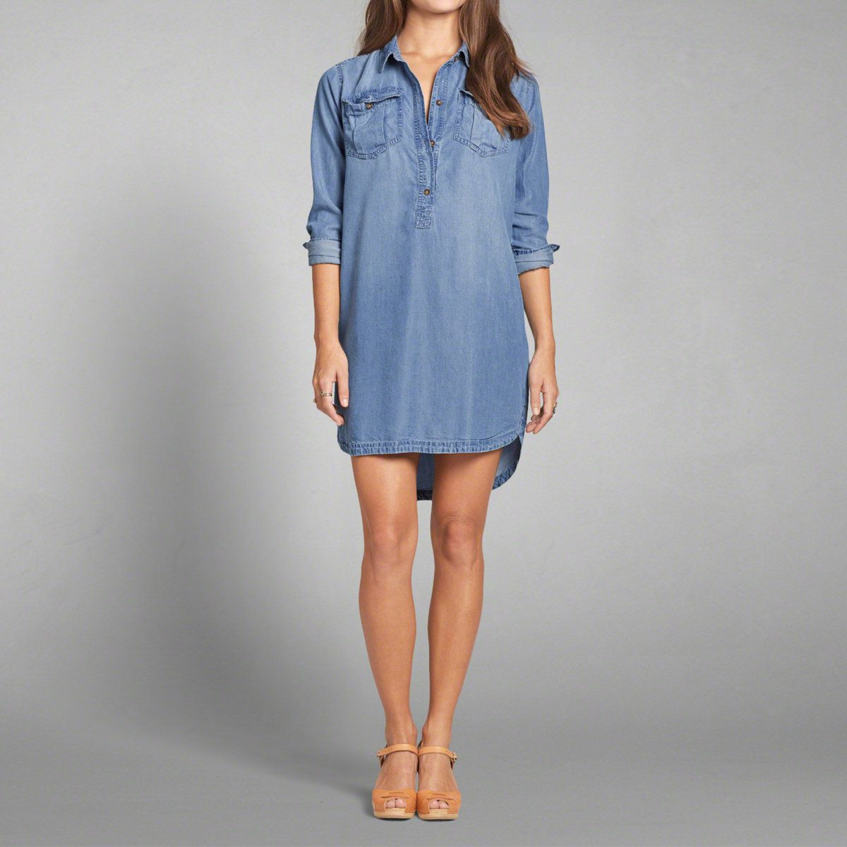 07ec9c905c53 Womens Chambray Shirt Dress