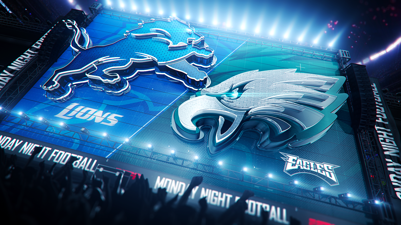 Espn Monday Night Football Game Package On Behance Sports Design Inspiration Sports Graphic Design Graphics Inspiration