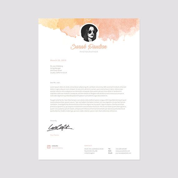 Creative Resume Template Instant Download + Cover Letter Format - cover letter format word