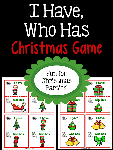 Christmas I Have Who Has Game Prekinders Animal Activities For Kids Preschool Games Christmas Activities