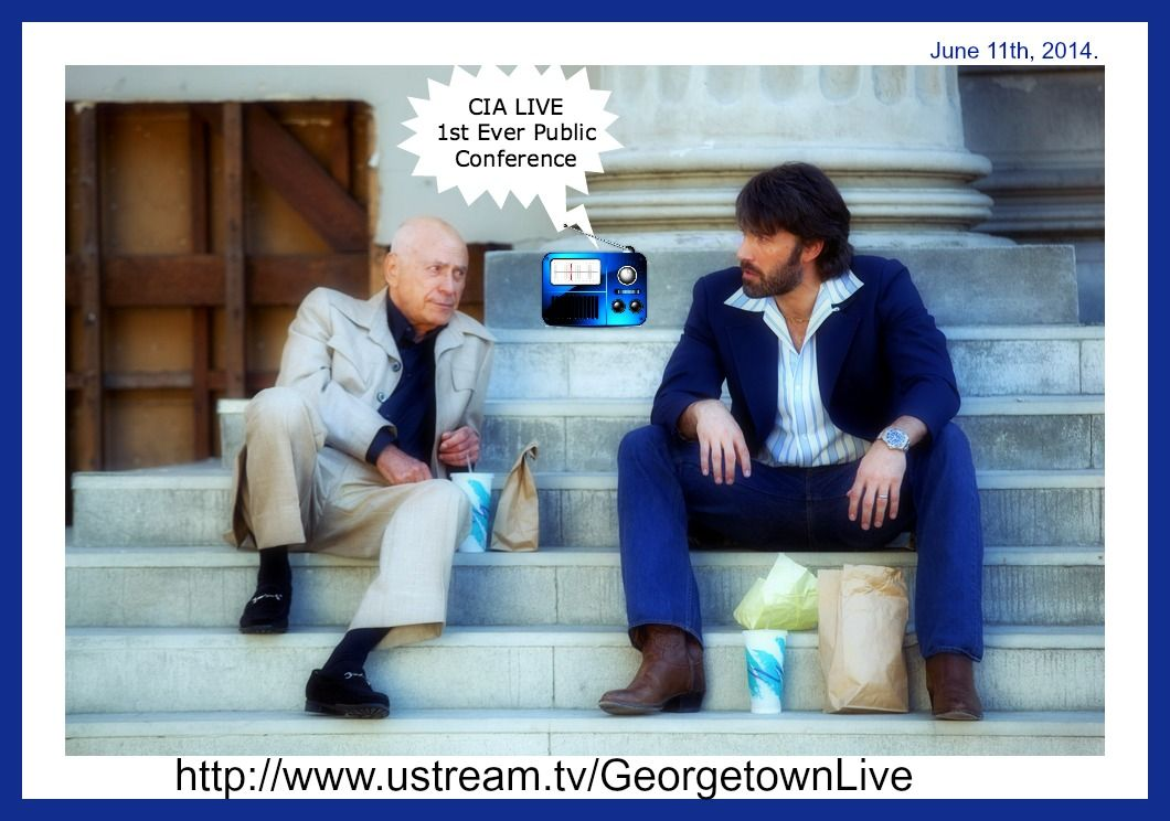 #CIA 1st ever #public conference #LIVE #Q&A! w/ #Dir #Brenan! http://www.ustream.tv/GeorgetownLive #FW #Hillary2016 #CSI #UndercoverBoss #Argo #fashion
