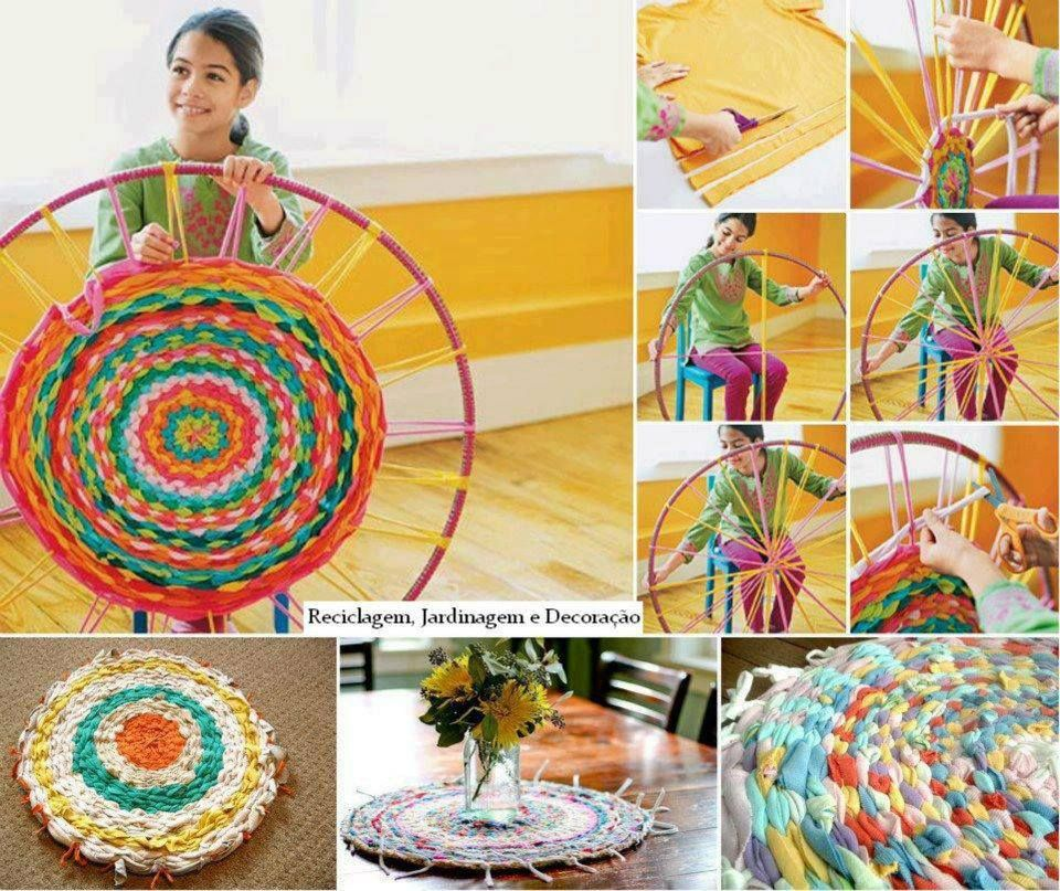 How To Weave A Round Hula Hoop Rag Rug