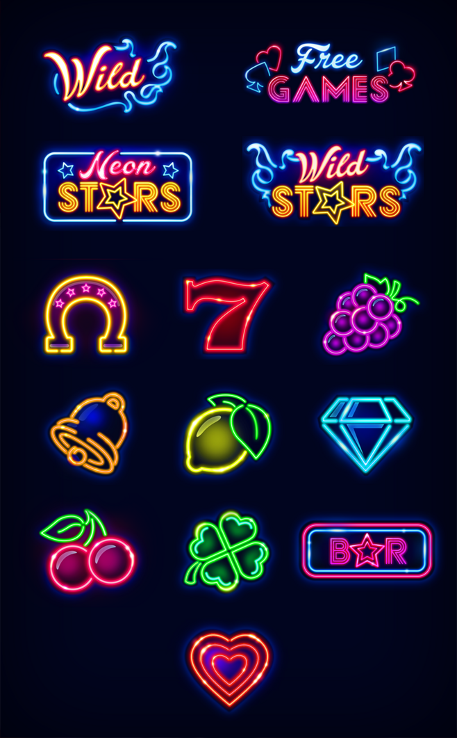 Neon slots sign