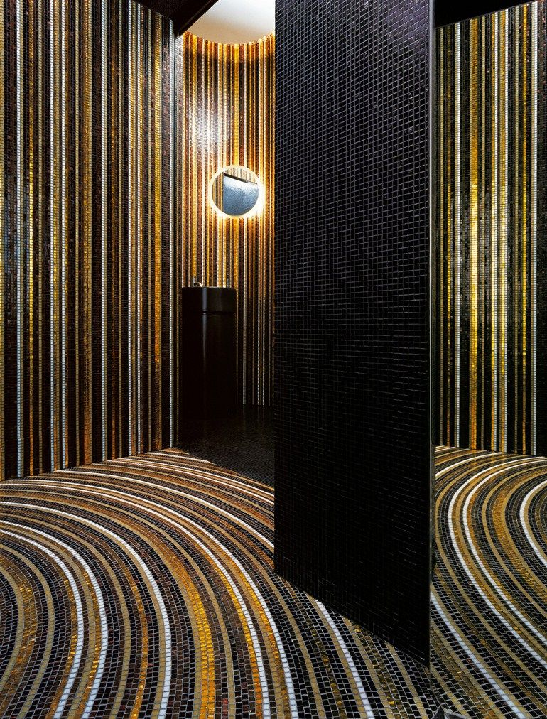 Glass #mosaic STRIPES Mosaico Collection by BISAZZA Mosaico | #design Marco Braga