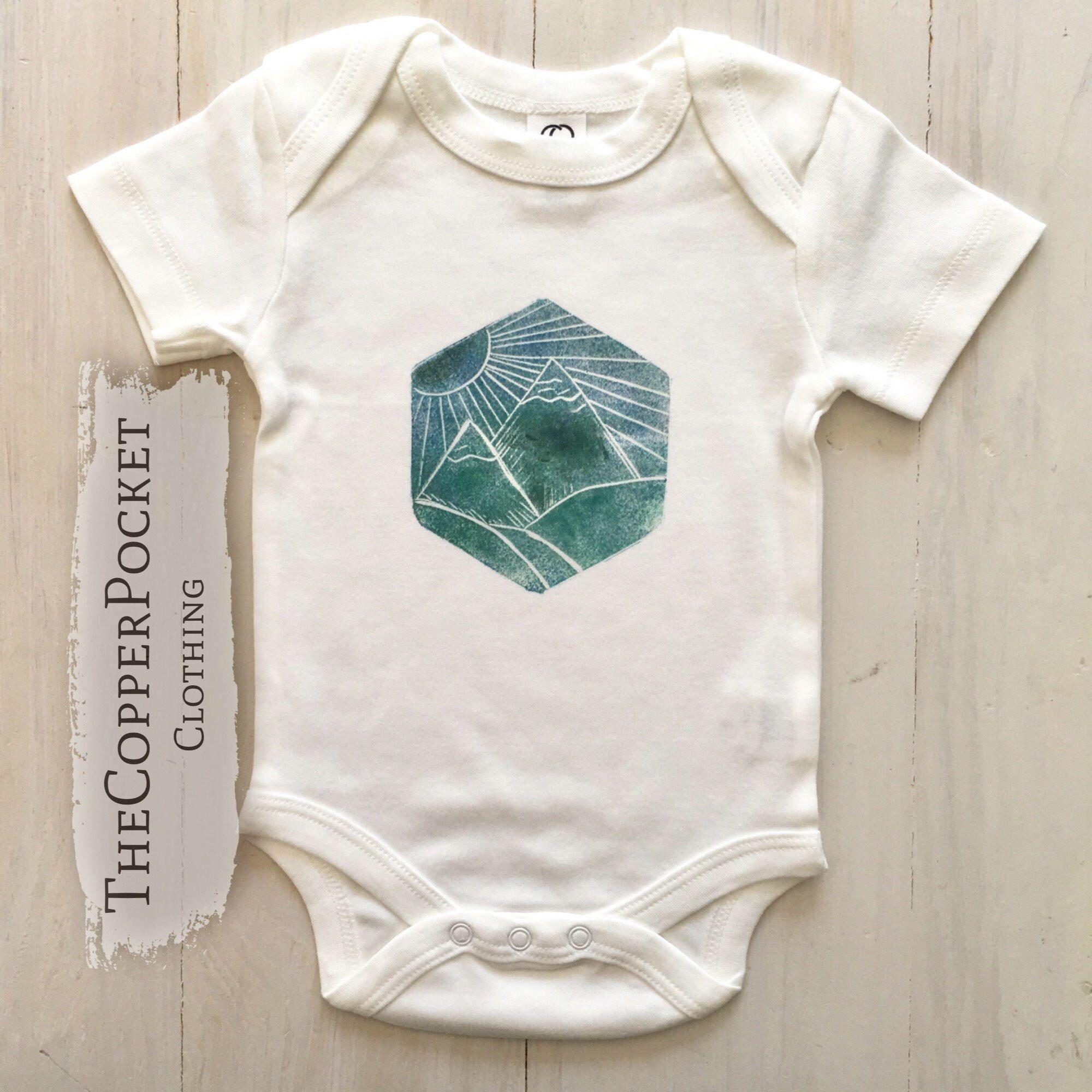 Nature Organic Baby Bodysuit clothes woodland onesie