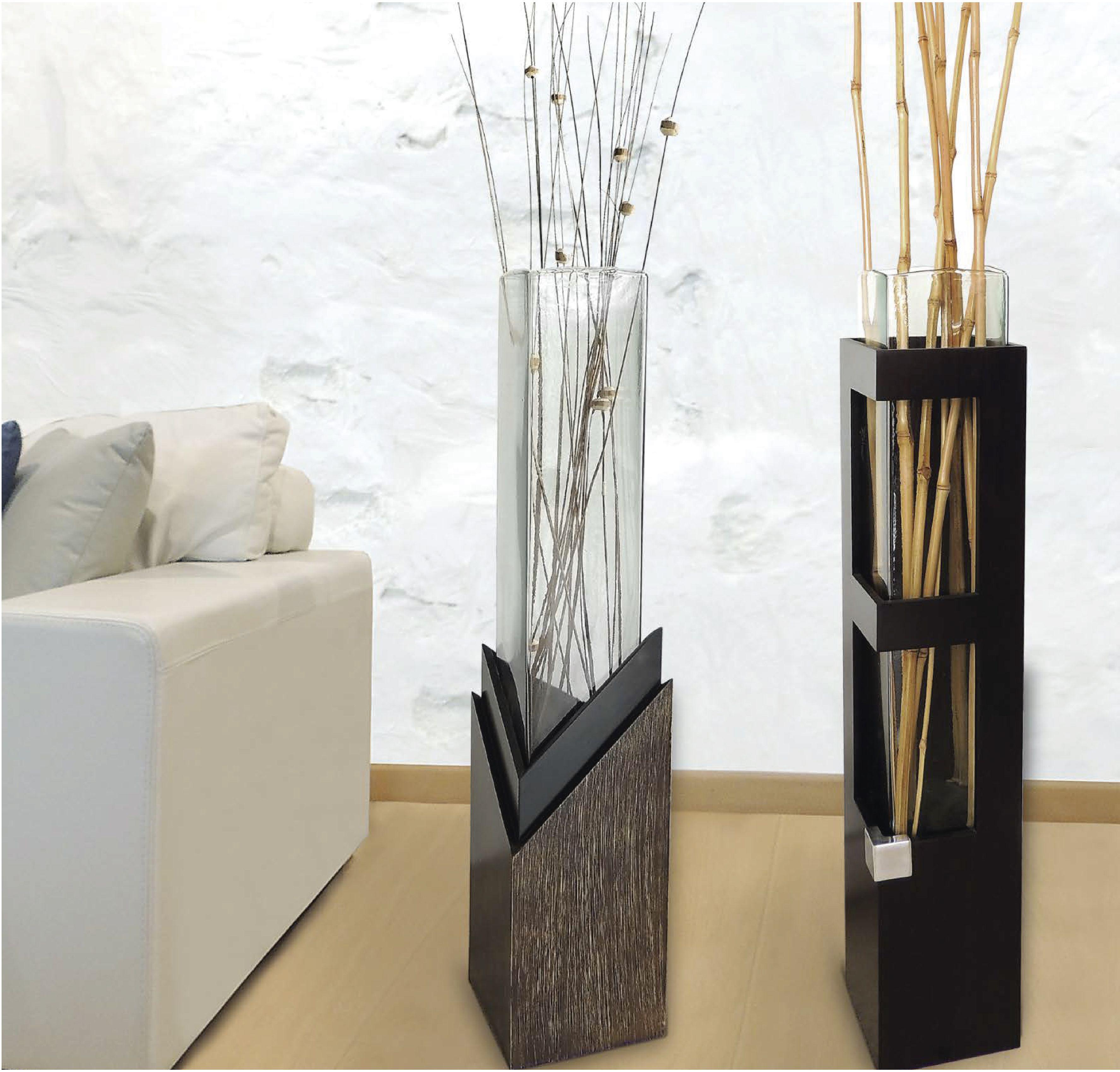Rinc n de sala de estar decorado con nuestros jarrones de for Jarrones de suelo modernos