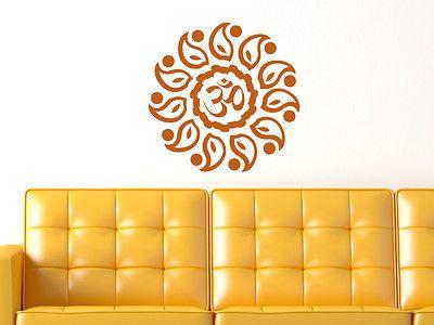 Great Details zu Wandtattoo Wanddeko Esoterik Om Zeichen in Sonnenform Wellness Bad Buddha