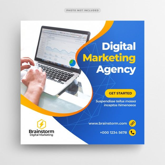 Digital Business Marketing Bannière De Médias Soci...