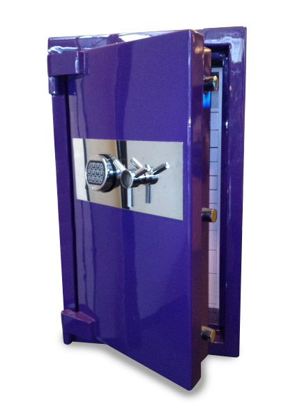 "Our Gotham Safe created in this ""grape"" custom color - Heavy Duty Burglary Protection Safe with ""Six-Sided Armor Plating"" www.empiresafe.com"