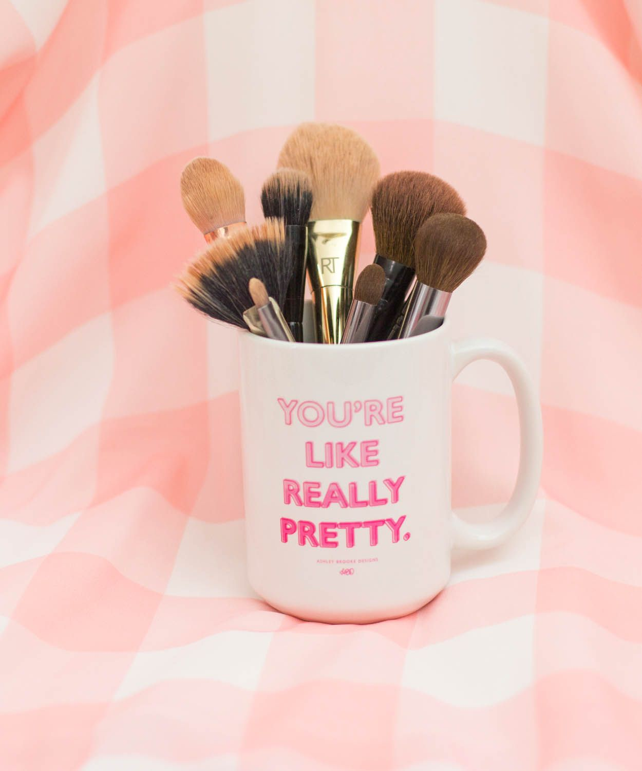 The perfect makeup brush holder! See how we use our mugs over on the blog today!
