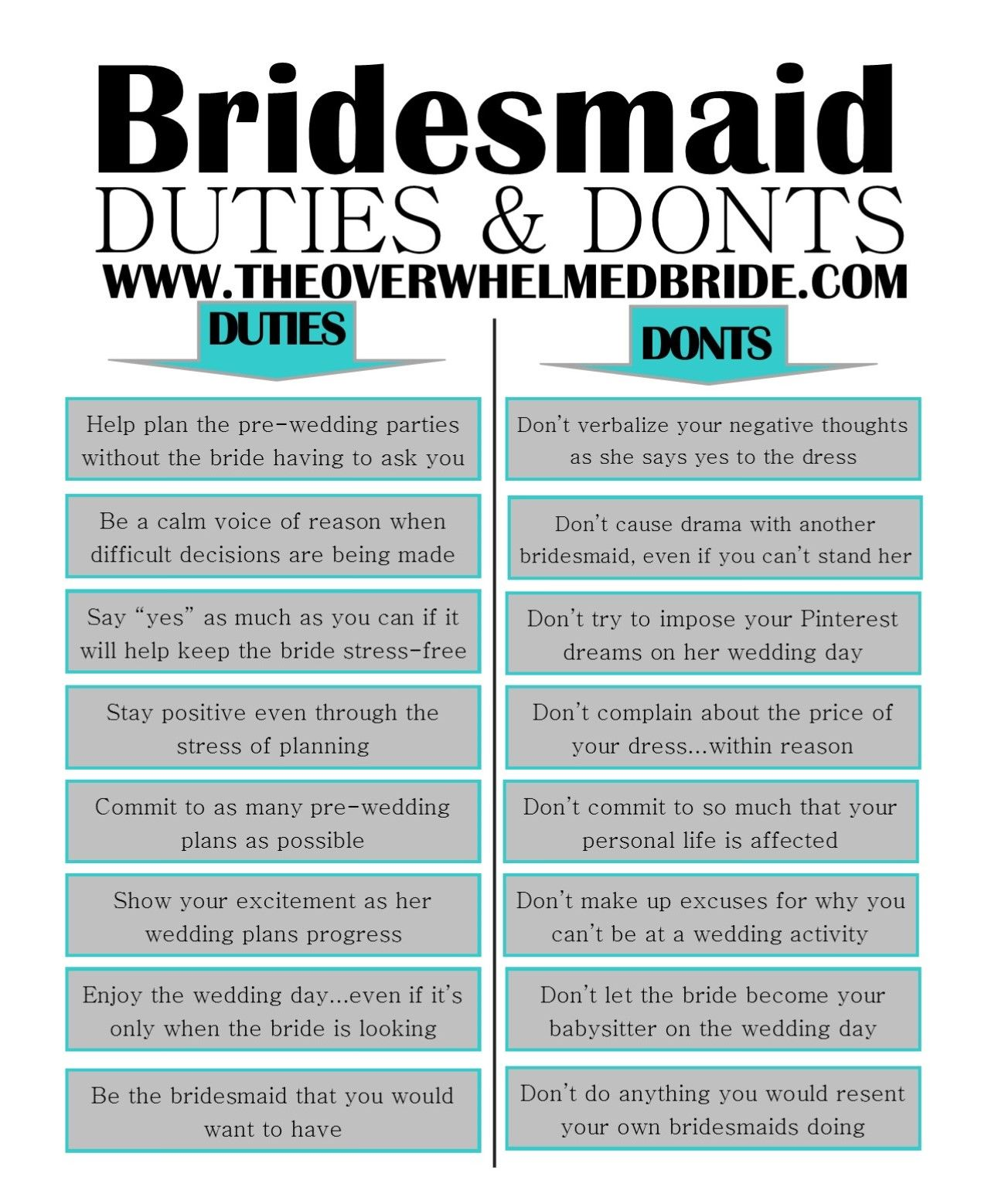 Sunday's Most Loved // Bridesmaid Duties And Don'ts