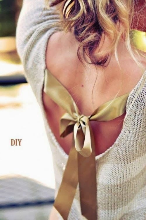 Give Your Sweater a Cute Back Bow