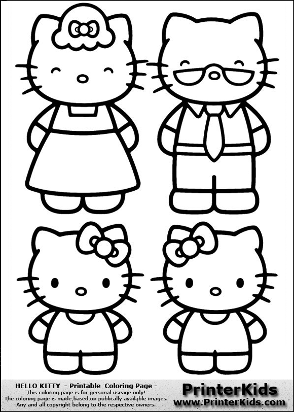Hello Kitty Kitty With Grand Parents Coloring Page Hello Kitty Coloring Kitty Coloring Hello Kitty Drawing