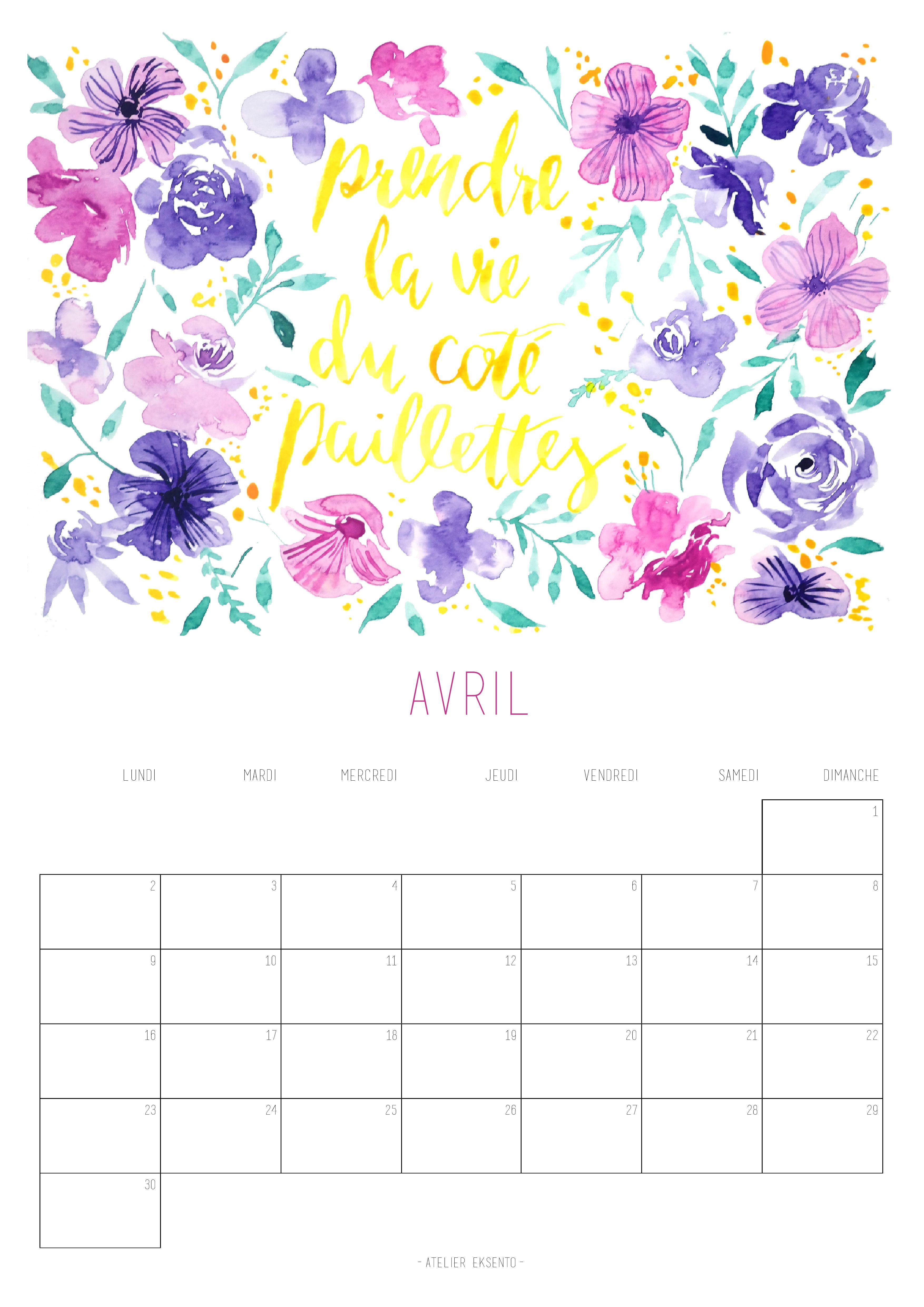 Calendrier 2019 Illustration Florale Calendrier 2018 Et Calendrier