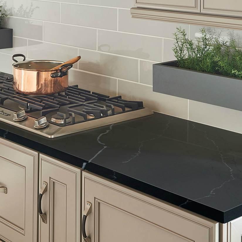 the dark side black quartz and black granite countertops compared black granite countertops on kitchen decor black countertop id=53342