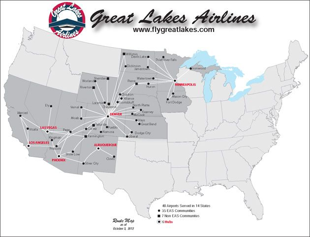 great lakes aviation route map An Airline That Doesn T Want Federal Subsidies Wait Really great lakes aviation route map