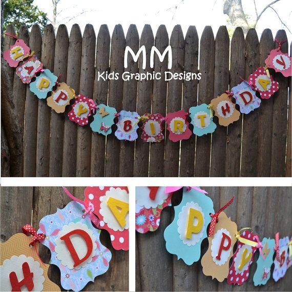 custom happy birthday banner personalized by mmkids on etsy 30 00