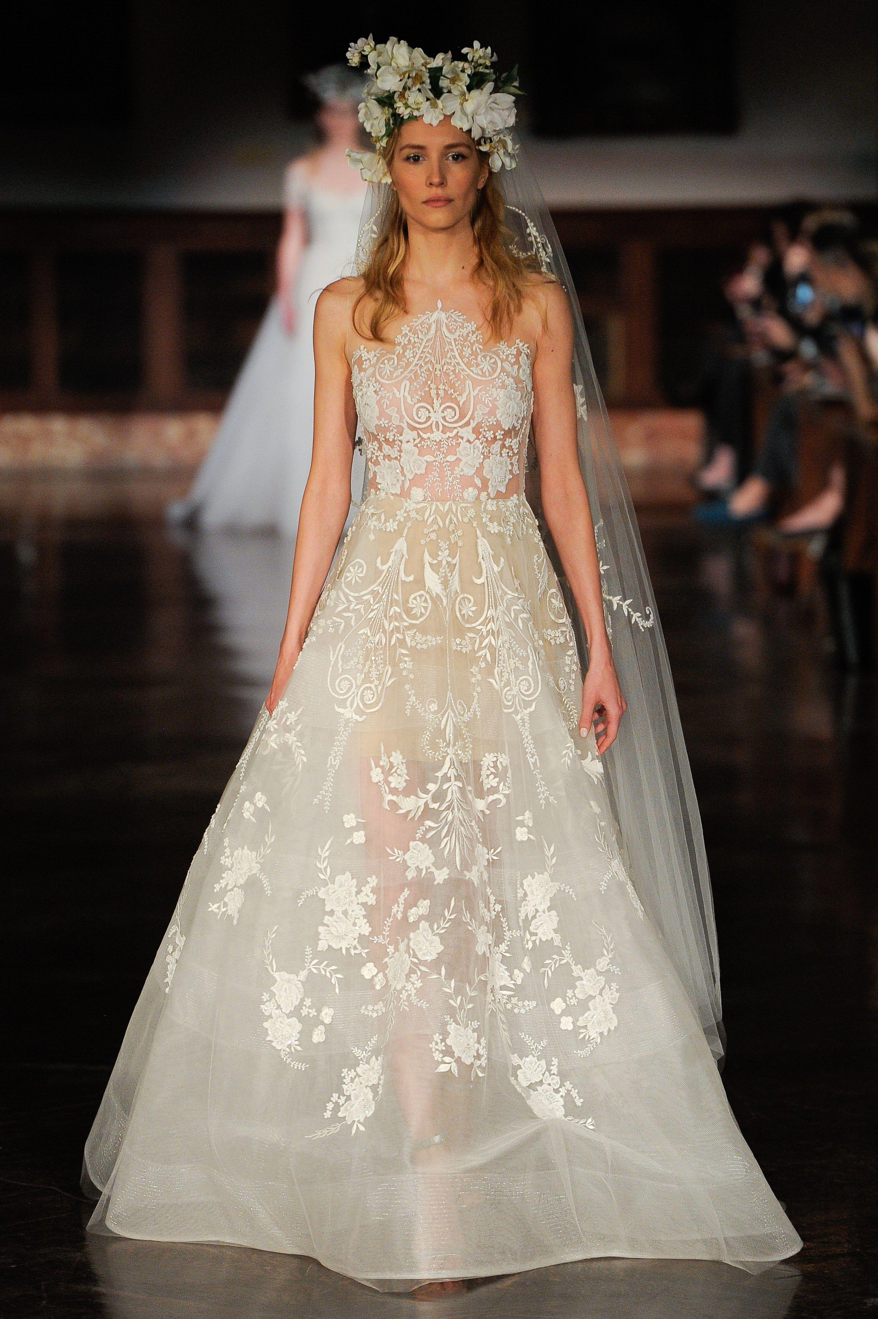 Reem Acra Bridal Spring 2019 Fashion Show Reem Acra Wedding Dress Wedding Dresses Kleinfeld A Line Wedding Dress