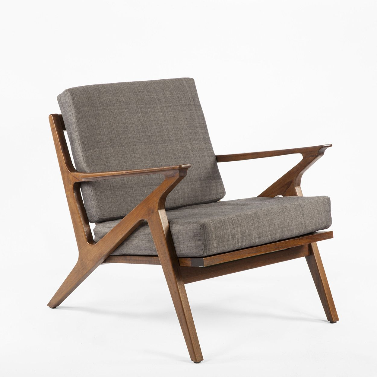 Mid Century Modern Reproduction Mid Century Z Lounge Chair Grey