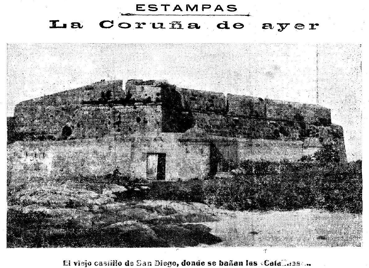 El Castillo De San Diego Hacia 1880 En La Voz De Galicia 26 Junio De 1927 Blog As Xubias Os Castros A Gaitei Fotografía Antigua Castillos Fotos Antiguas