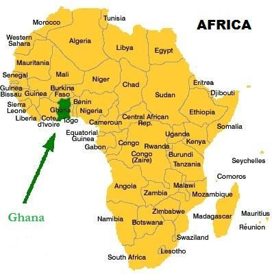 Map Of Ghana West Africa.Ghana Is A West African Country Yes West Africa Africa Map