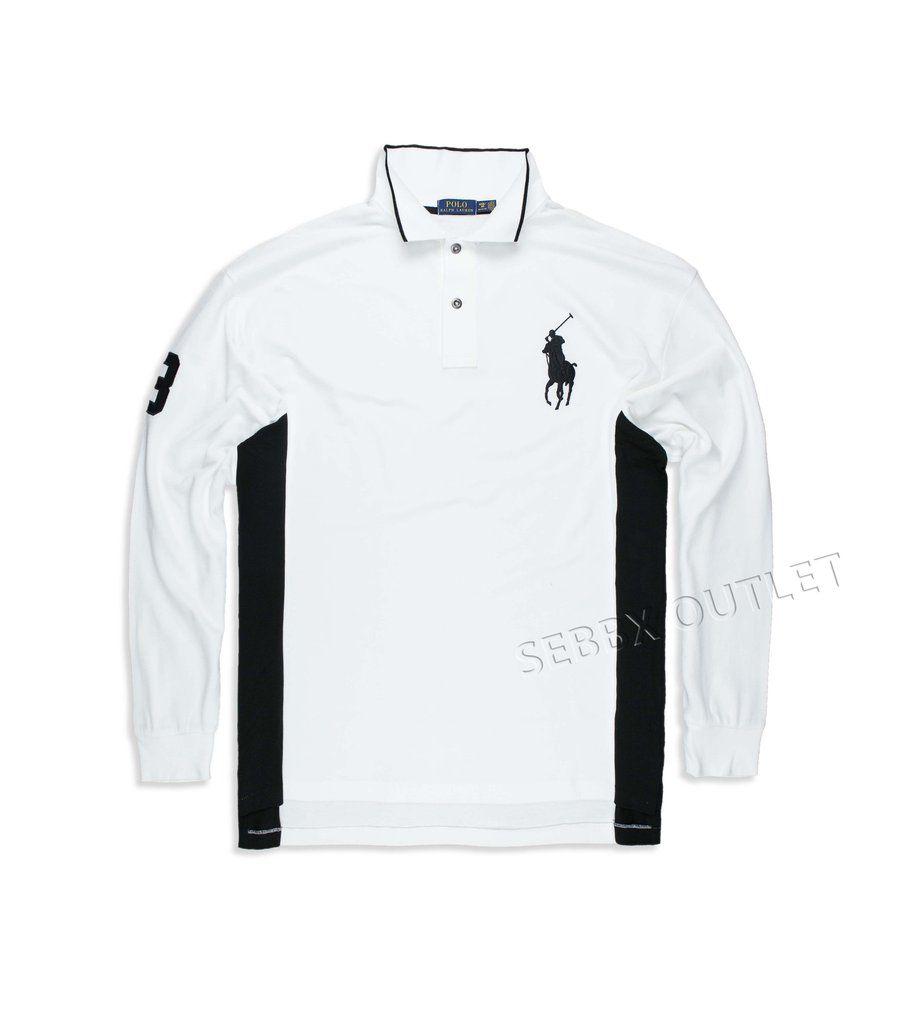 Polo Ralph Lauren Rugby Polo Shirt Big & Tall White Long Sleeve