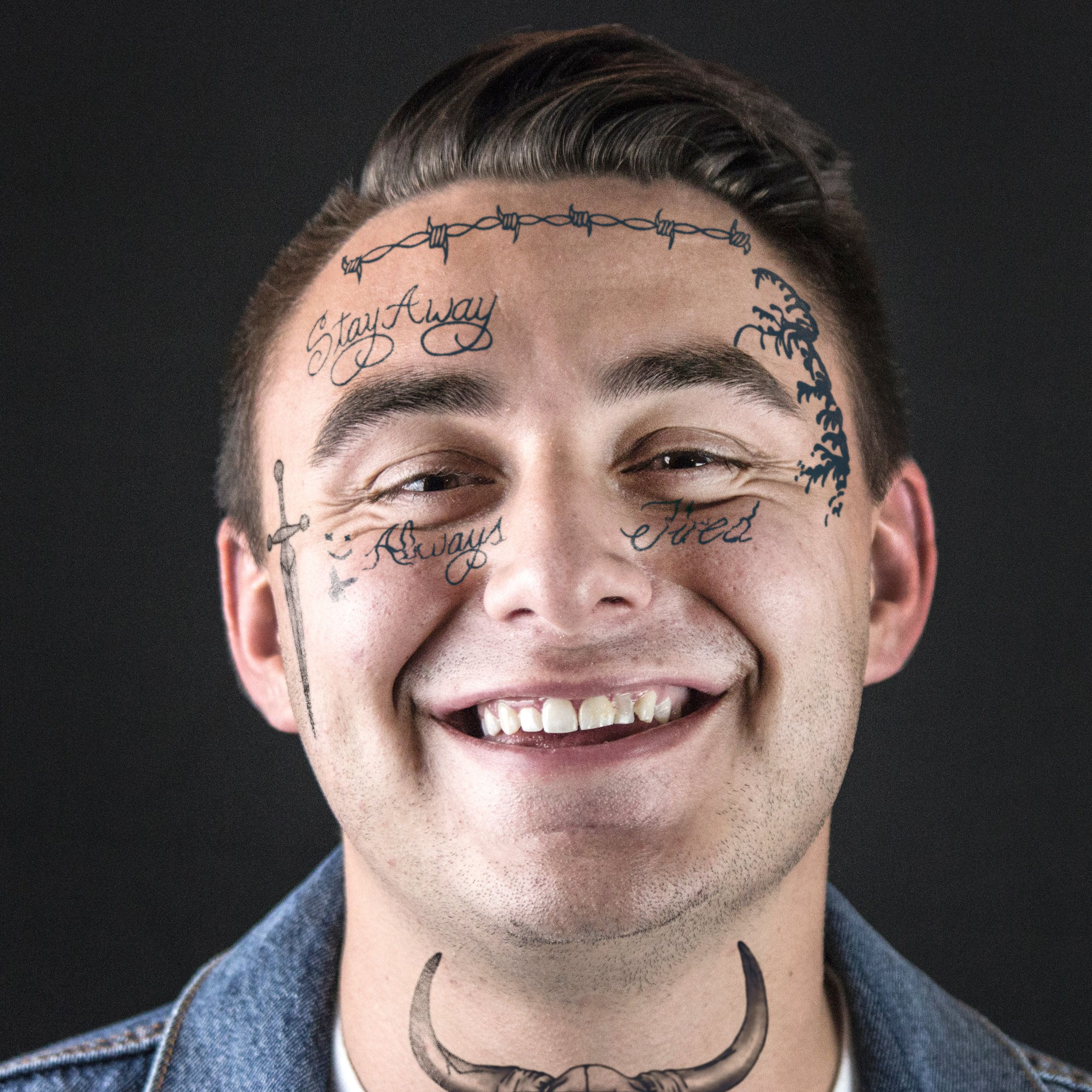 post malone face tattoo set | halloween temporary tattoos | halloween costume | skin safe | 16